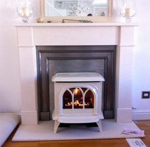 Honiton Hunter 30 Gas Stove installed by Faraday Stoves