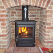 Woodwarm Foxfire 4ke installed by Faraday Stoves